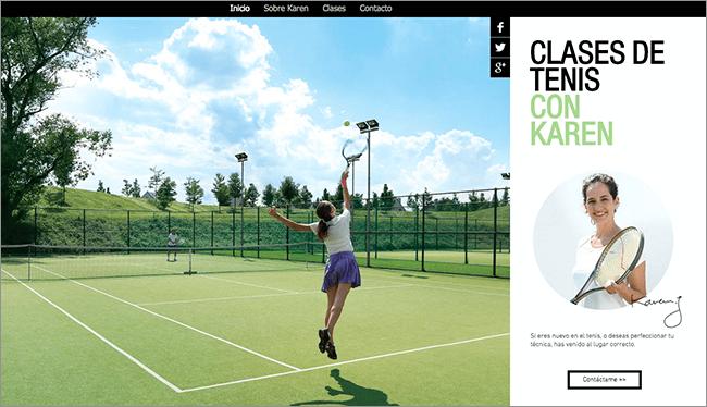Plantilla Clase de Tenis