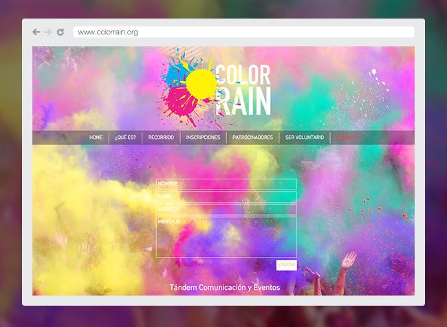 Color Rain™ Página Web