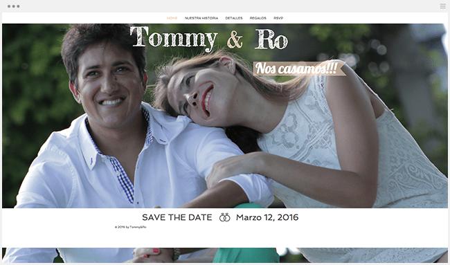 Tommy y Ro | Página Web de Bodas