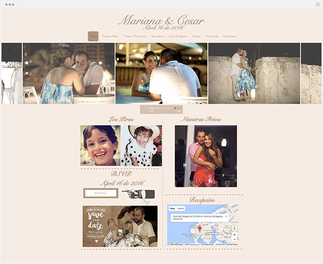 Mariana y Cesar | Página Web de Bodas