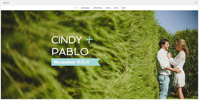 Cindy y Pablo | Página Web de Bodas