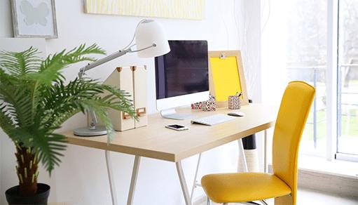 C mo dise ar una buena oficina en casa blog de wix for Disenar mi oficina