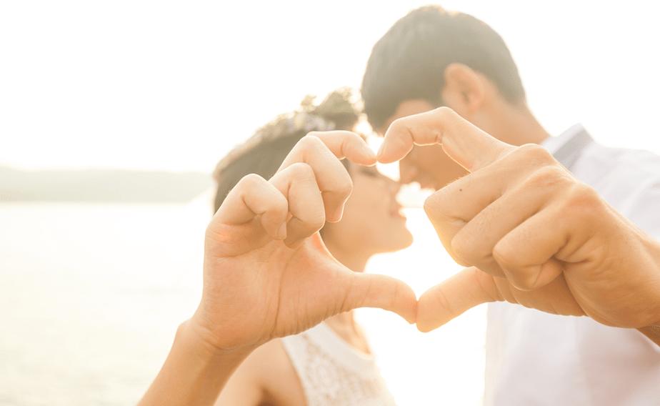 Cliché - Dedos en forma de corazón