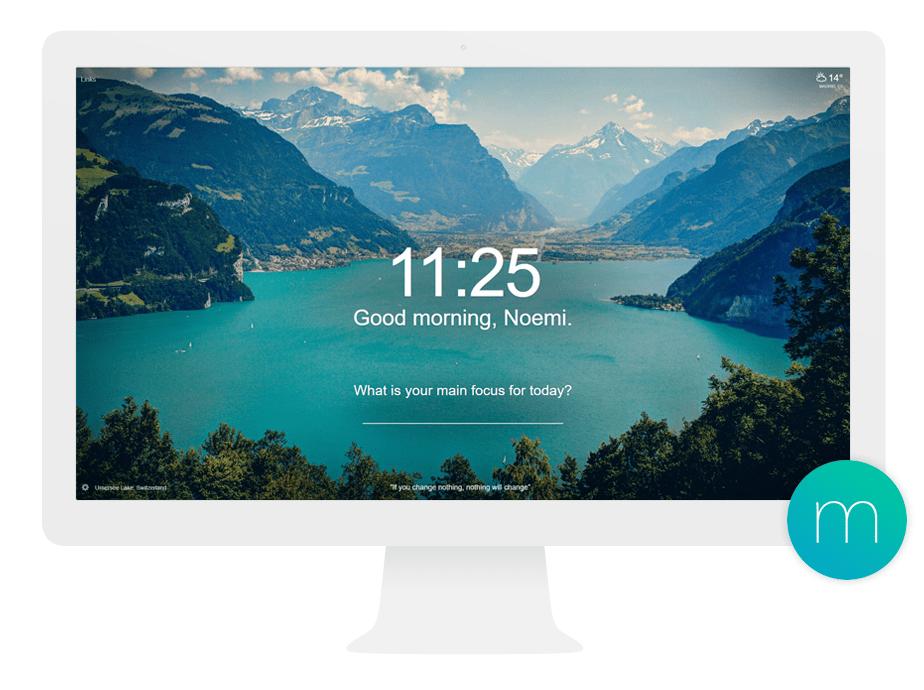 Extensión de Chrome: Momentum