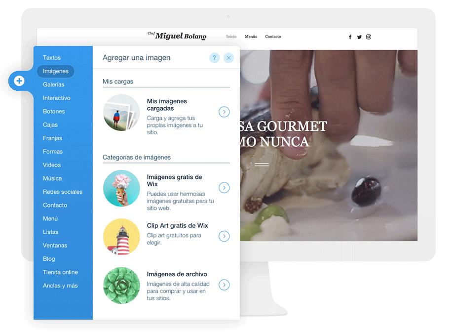 Edita y personaliza tu página