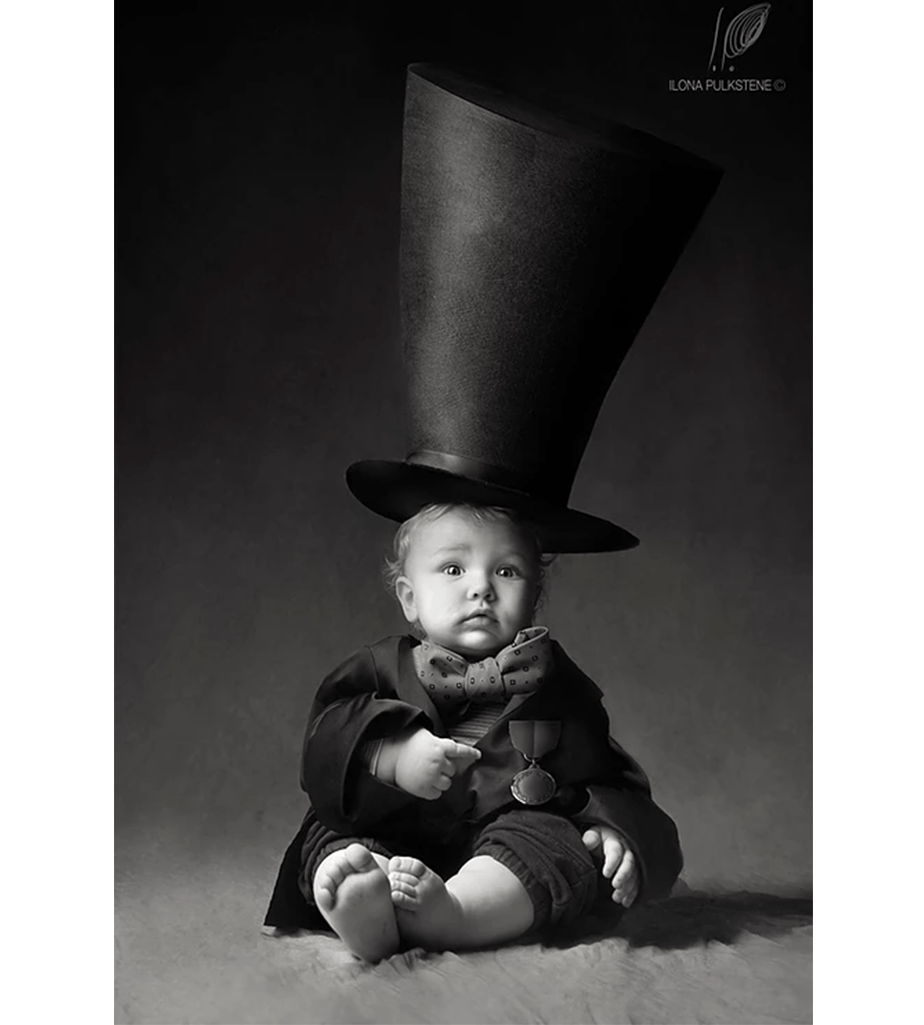 Fotografía-de-Bebés_Sombrero de Copa