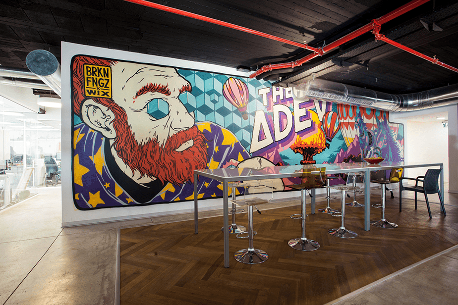 Arte en las paredes de Wix