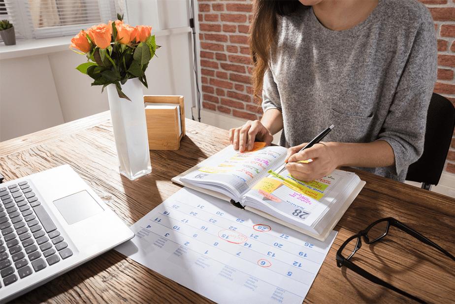 Marcarás los días de descanso en el calendario