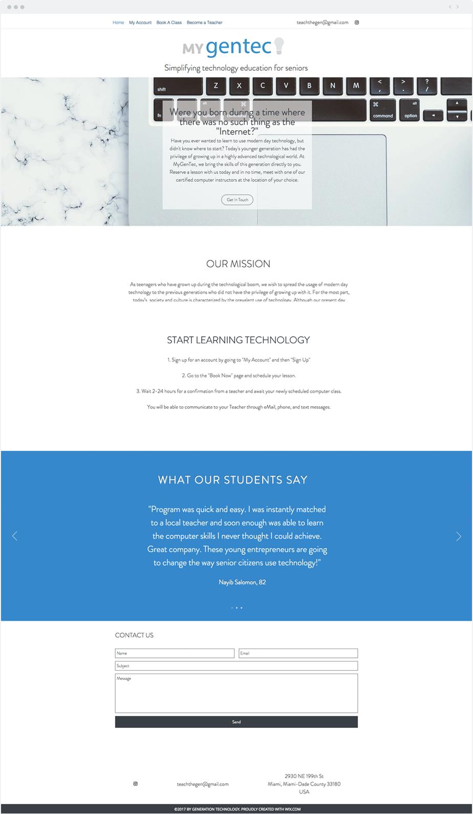 Ideas de Negocio Wix - MyGentec
