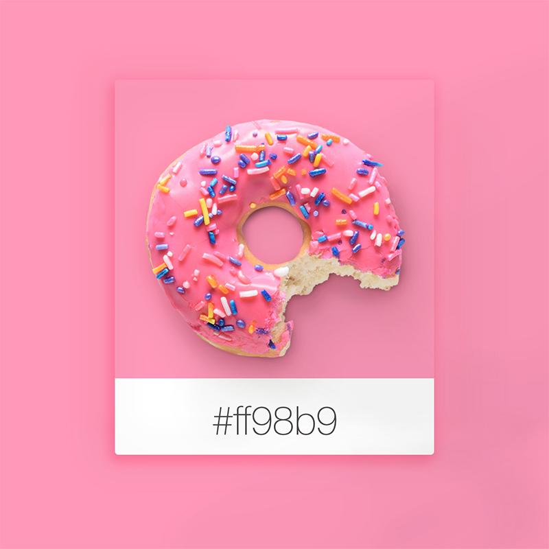 Colores que inspiran: rosa donut