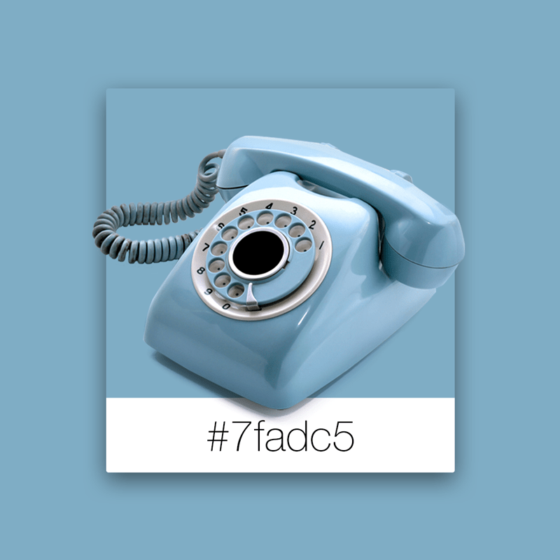 Colores que inspiran: Teléfono vintage