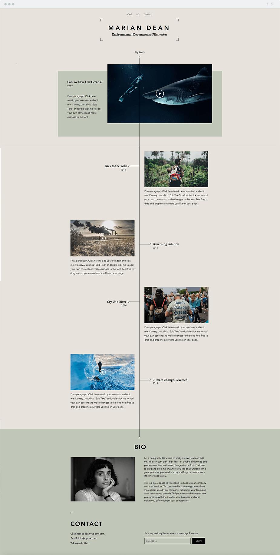 12 Plantillas web perfectas para la industria del cine y el ...