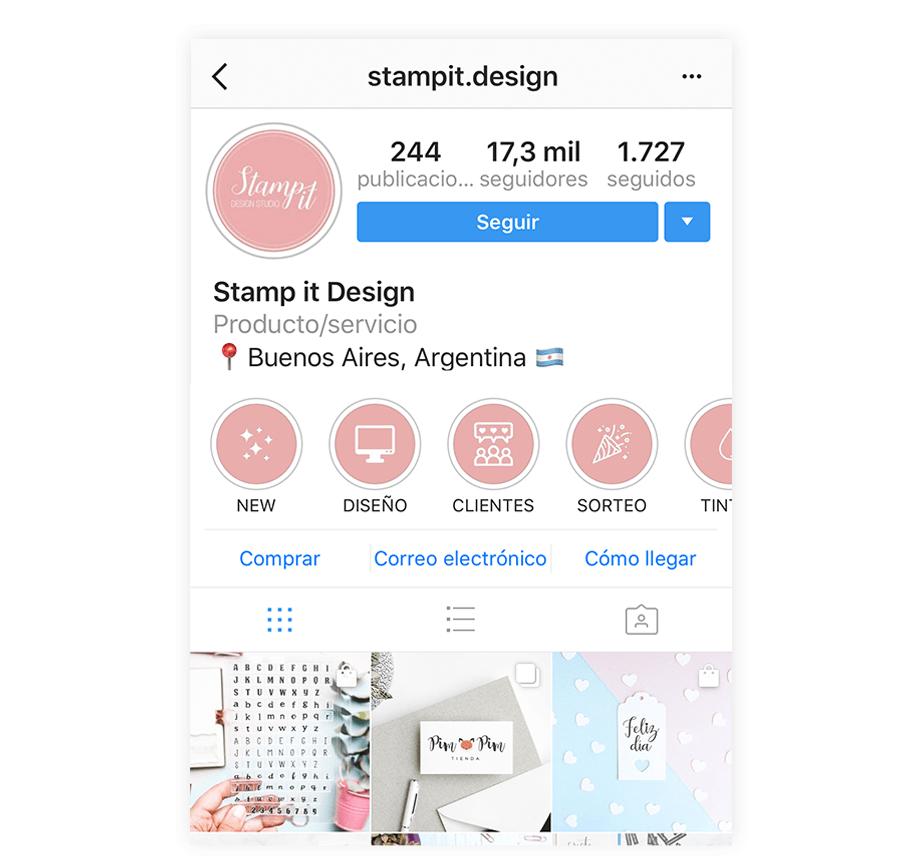 Perfil de Instagram con Identidad de Marca