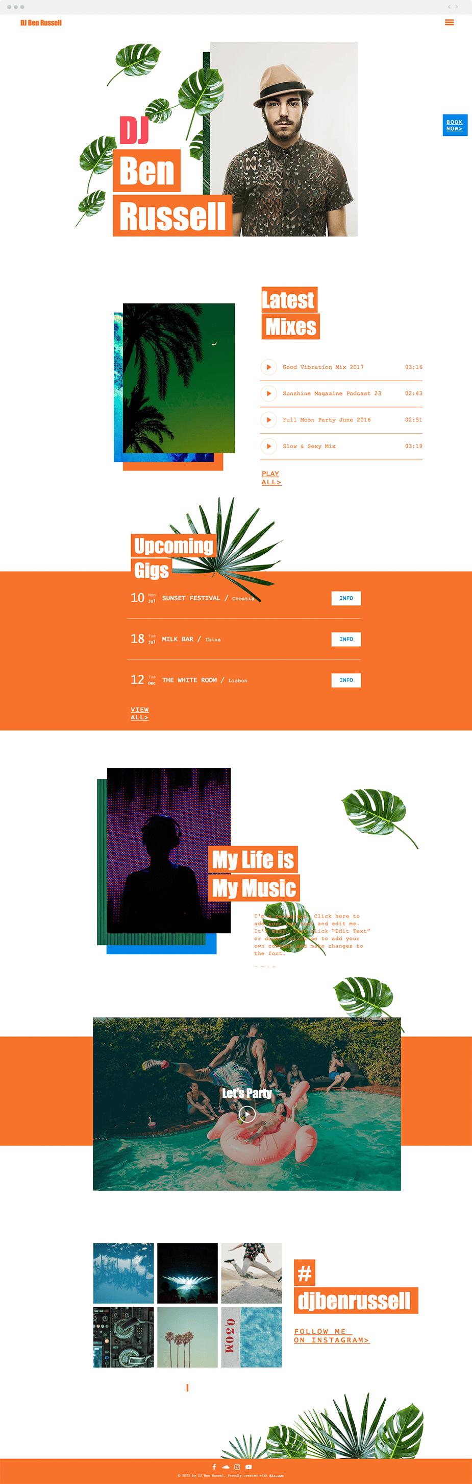 Plantilla para DJs