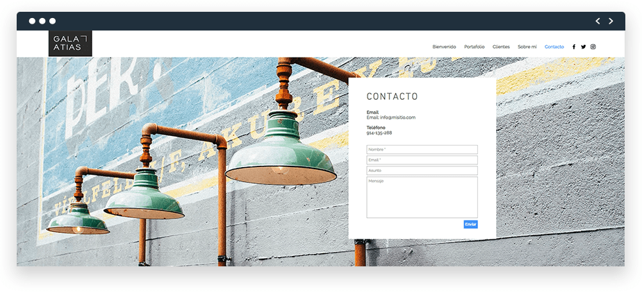 Formularios de contacto