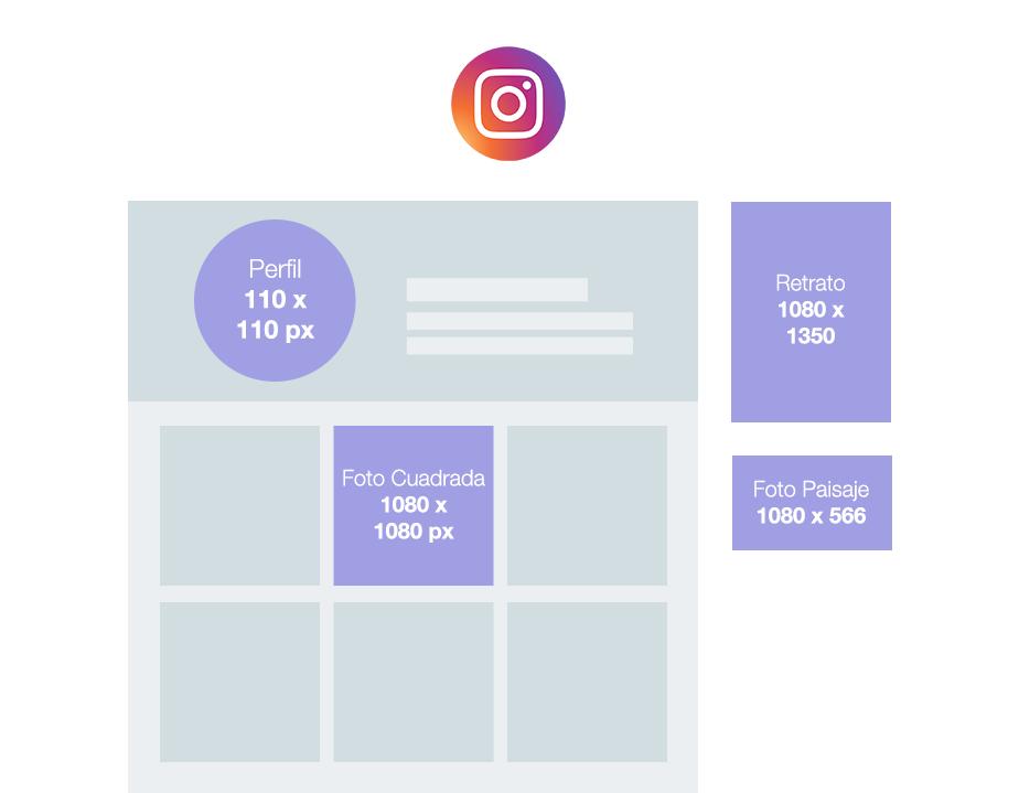 tamaños de imagen para instagram