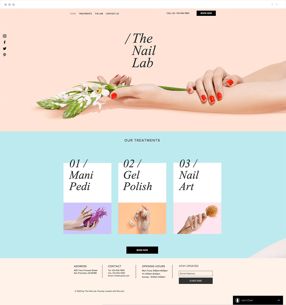 Plantilla Web de Salón de Manicura