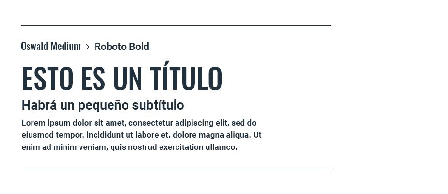 Oswald Medium & Roboto Bold